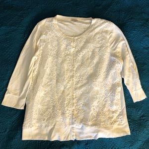 XXL White Merona 3/4 sleeve cardigan